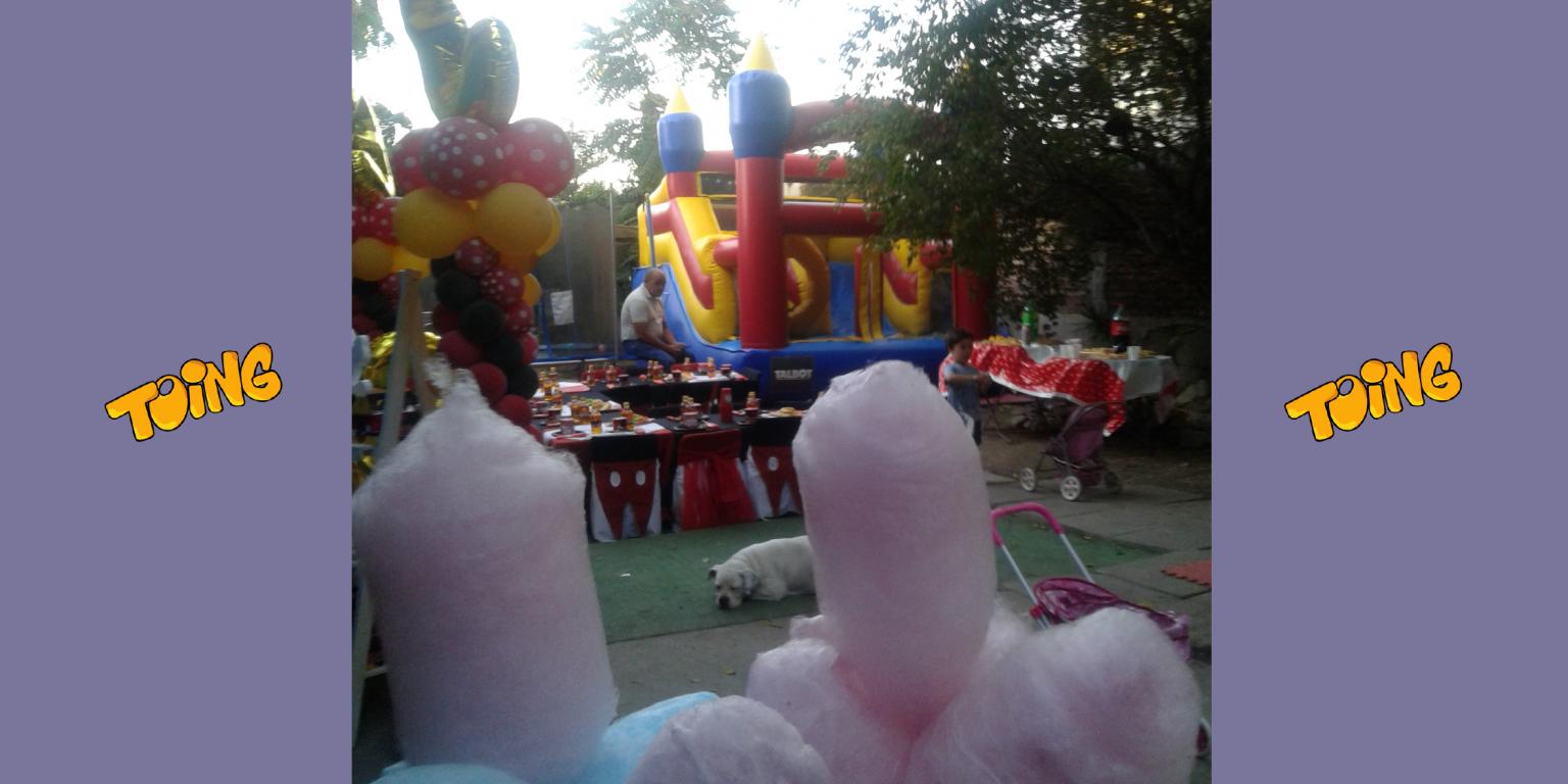 Arriendo Juegos inflables algodón dulce